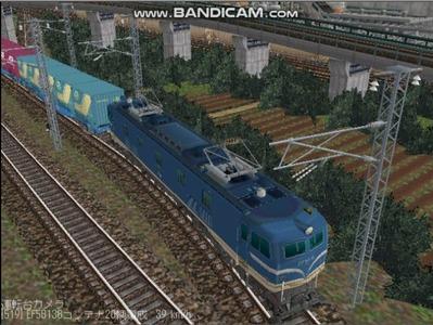 越河レイアウトカメラ切替貨物ヤード6-EF58-137-3