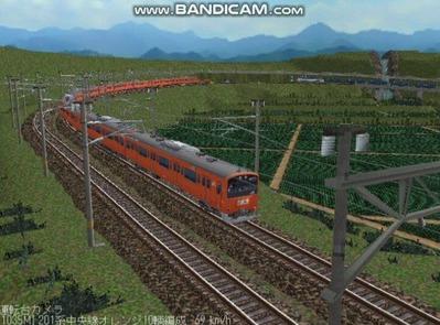 越河レイアウト電車シリーズ69-201系中央線オレンジ中特10