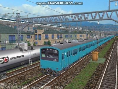 越河レイアウト電車シリーズ70-201系京浜東北スカイブルー1