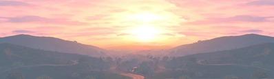 Steam背景夕日オリジナル3-11