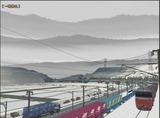 奥中山大カーブ冬景色DF200レッドベア1