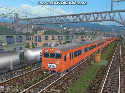 越河レイアウト103シリーズ100-103系J特快高運転台オレンジ色1