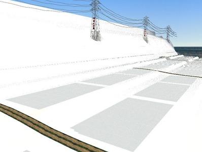 仮想日本海縦幹線雪景色制作14