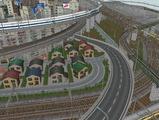 3欲張り新幹線レイアウト踏切道部分87