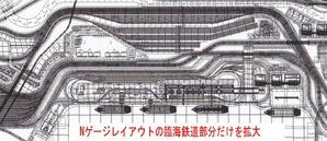 Nゲージレイアウト図臨海鉄道部分1