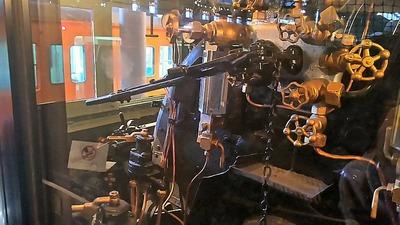 鉄博132−C57蒸気機関車運転台2