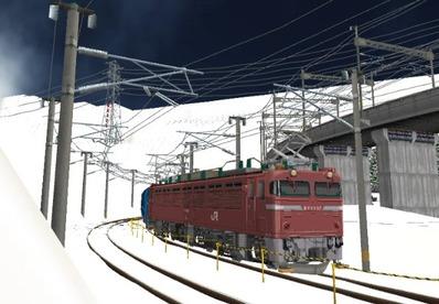 仮想日本海縦幹線雪景色カーブ6日本海