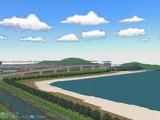 新幹線レイアウト東側海9