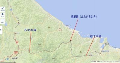 石北本線遠軽駅地図2