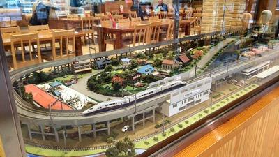 SA那須高原上り鉄道ジオラマ1