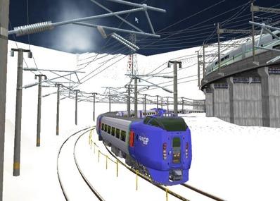 仮想日本海縦幹線雪景色キハ283系1