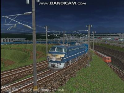 越河レイアウト夜汽車シリーズ9-EF66-39あさかぜ5