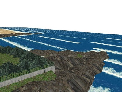 5編成並走見張線海岸線岩礁12
