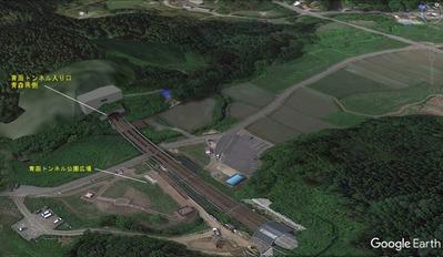 青函トンネル出口付近地図2