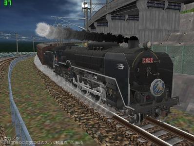 仮想日本海縦幹線雪景色C62-4