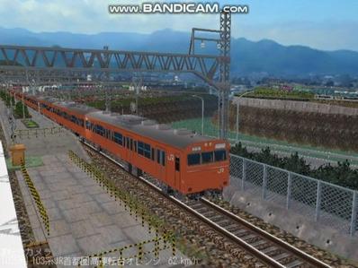 越河レイアウト103シリーズ98-103系JR高運転台オレンジ色関西圏3