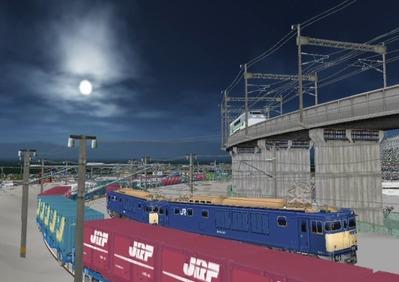 仮想日本海縦幹線雪景色月明かり海岸線3