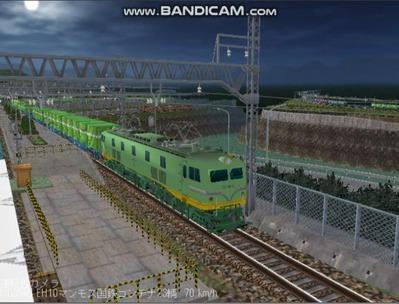 越河レイアウト夜汽車シリーズ18-EF58-45青大将コンテナ6