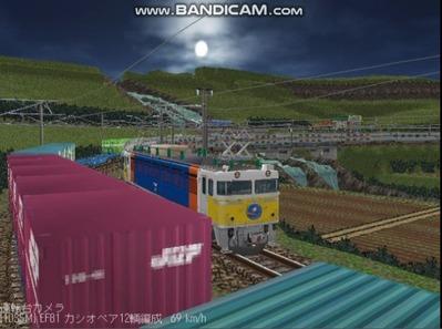 越河レイアウト夜汽車シリーズ5-EF8189カシオペア5
