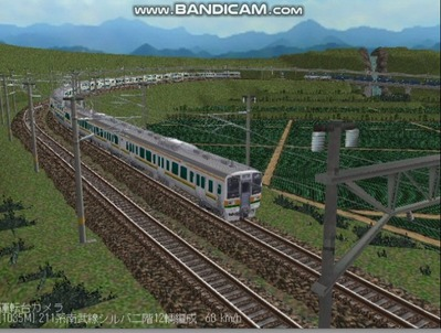 越河レイアウト電車シリーズ76-211系二階建て8
