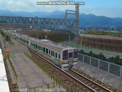 越河レイアウト電車シリーズ76-211系二階建て3