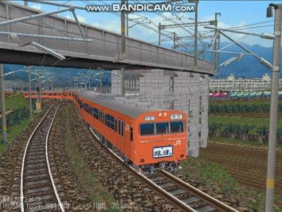 越河レイアウト103シリーズ100-103系J特快高運転台オレンジ色5
