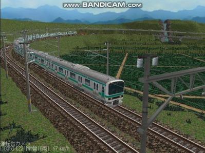 越河レイアウト電車シリーズ72-E231系常磐線8