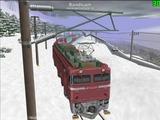 北の貨物駅通過中EF81-37-6