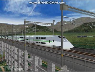 越河レイアウト東北新幹線E1系Max5