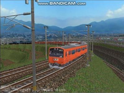 越河レイアウト電車シリーズ69-201系中央線オレンジ中特3