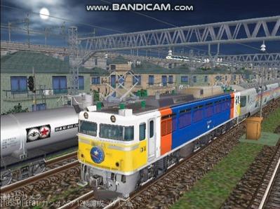 越河レイアウト夜汽車シリーズ5-EF8189カシオペア1