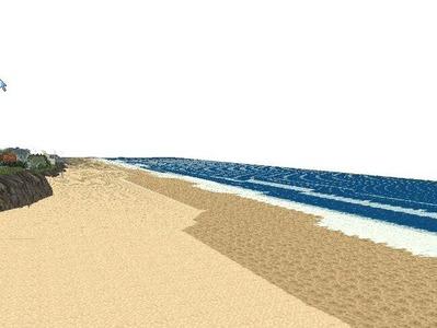 5編成並走見張線海岸線海面作り11