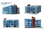 立体駐車場5階建てブルー2