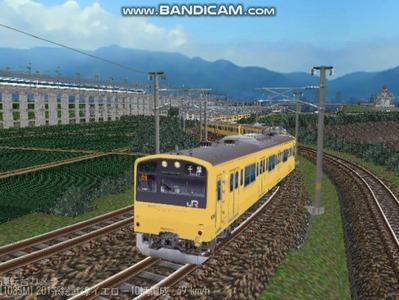越河レイアウト電車シリーズ71-201系総武線カナリア2