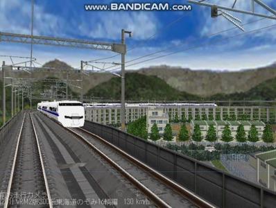 越河レイアウト東北新幹線300系のぞみVRM2版5