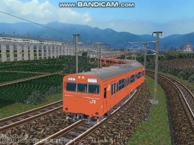 越河レイアウト103シリーズ98-103系JR高運転台オレンジ色関西圏2