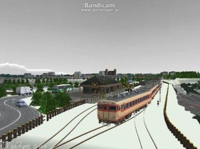 単線自動運転4編成雪景色2