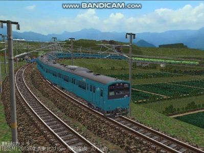 越河レイアウト電車シリーズ70-201系京浜東北スカイブルー10