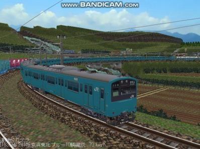 越河レイアウト電車シリーズ70-201系京浜東北スカイブルー7
