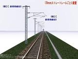 IMAGIC 単線架線柱鉄骨型B 128�正面1.
