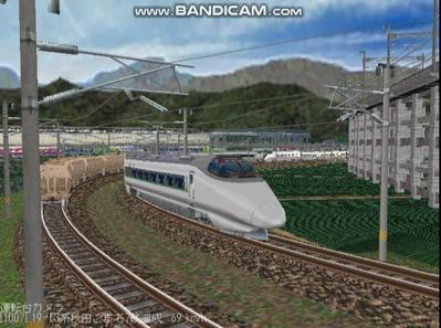 越河レイアウト400系+E3系動画2501本記念4