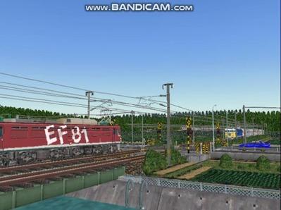 VRM3版気越河東北本線越河踏切背景1スッキリ青空