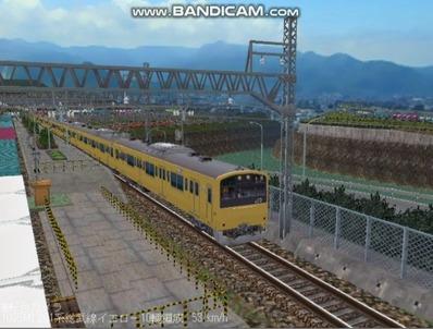 越河レイアウト電車シリーズ71-201系総武線カナリア4