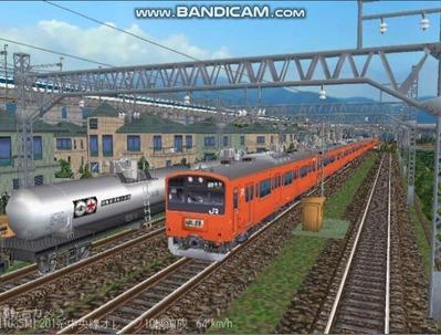 越河レイアウト電車シリーズ69-201系中央線オレンジ中特1