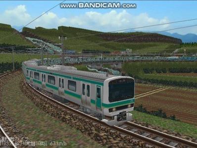 越河レイアウト電車シリーズ72-E231系常磐線5