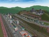 KATO曲線デッキガーター駅B春景色4