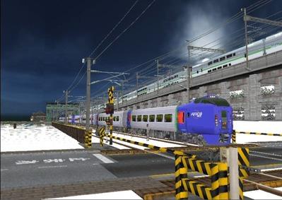 仮想日本海縦幹線雪景色キハ283系3