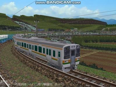 越河レイアウト電車シリーズ76-211系二階建て7