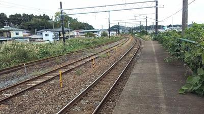 東北本線松島駅カーブホーム6
