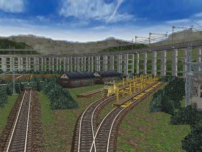 白石駅構内完成形上り方面レール保管2